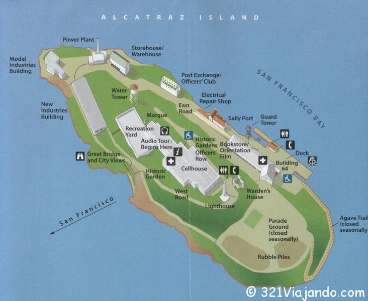 map alcatraz